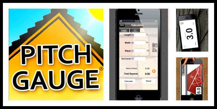 Pitch gauge application for cell phones